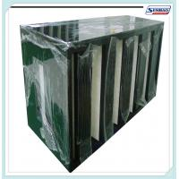 Wholesale High Capacity Absolute Air Furnace Filter V Shape F5 - F9 Efficiency from china suppliers