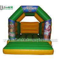 Wholesale Kids / Adults Custom Christmas Inflatable Bouncy Castle With Roof 3 Years Warranty from china suppliers