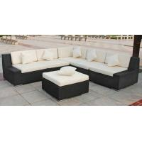 Wholesale Outdoor Rattan Furniture , Garden Sectional Sofa Set With Ottoman from china suppliers