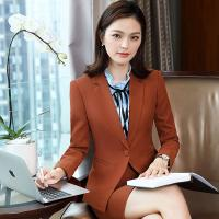 China Long-Sleeved Slim Fit Women's Suit Autumn Winter Trousers Suit Business Workwear Suit on sale