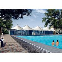Wholesale White Fabric Steel Membrane Tensile Structure For Outside Swimming Pool from china suppliers