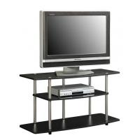 Wholesale Tempered Glass Black Contemporary TV Stand Stainless Steel For Home from china suppliers
