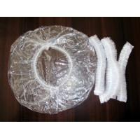 Wholesale PE Plastic Disposable Surgical Caps / SPA Strip Shower Hats For Adults from china suppliers