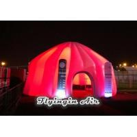 Quality Red Inflatable Dome Tent with Lighting Inflatable Column for Exhibition and Events for sale