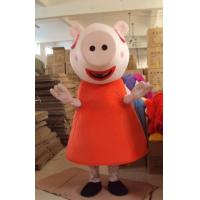 Wholesale Funny Custom Cartoon Character peppa pig mascot costumes with little cool fan from china suppliers