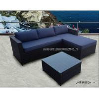 Wholesale Black Outdoor Sectional Sofa Set / Patio Sectional Couch Steel Frame from china suppliers