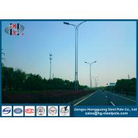 Quality Conical Tapered 15Meters Anti-corrosive Street Lighting Poles With  Arm for sale