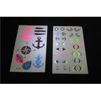 Wholesale UV Black Light Neon Fluorescent Temporary Tattoos , Childrens Temporary Tattoos from china suppliers