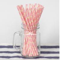 Wholesale Wedding Birthday Colored Paper Straws Food Grade Kraft Paper Material from china suppliers