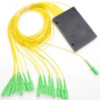 Wholesale SC APC Green Optical Network Components 1*16 Fiber Optic Splitter PLC Single Mode from china suppliers