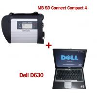 Wholesale Wireless MB SD C4 Mercedes Benz Diagnostic Tool With Dell D630 Laptop Ready to Use from china suppliers