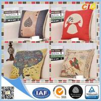 Wholesale Washable Printed Decorative Soft Pillow Sofa Seat Cushions With Filling from china suppliers