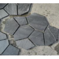 Wholesale Black Slate Flagstone Walkway Pavers Patio Stones Flooring Flagstone Wall Landscaping Stones from china suppliers