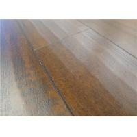 Quality Dark Handscraped Rustic Distressed Laminate Flooring with EIR Unilin Click for sale