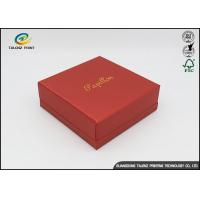 Wholesale Environmental Red Printing Cardboard Gift Boxes With Hot Stamping Surface Dispoal from china suppliers