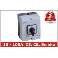 Wholesale Waterproof Motor Selector Change Over Switch / Rotary Cam Switch with IP65 Box from china suppliers