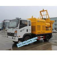 Quality Q345 agitating vane  yellow color Sinotruck CDW 4X2 25m3/hour multifunction concrete mixer and pump truck for sale for sale