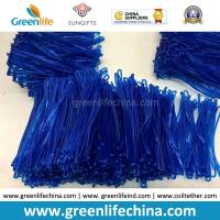 Wholesale Bright Transparent Blue 2.5x150mm Custom Travel Tag Hanging PVC Loops from china suppliers