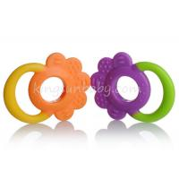 Wholesale Funny Double Colors Cool Teething Rings , Baby Bottle Shape Teething Toys For Toddlers from china suppliers