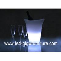 China 16 Colors Changing Novelty LED Ice Bucket / cooler , Waterproof led wine bucket on sale