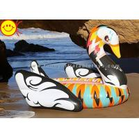 Wholesale Portable Inflatable Water Floats 190cm Colorful Printed , Inflatable Swan Float For Party from china suppliers