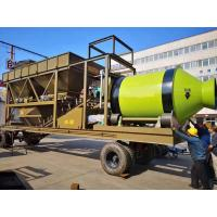 Wholesale Safe Mobile Concrete Mixing Plant 180D Rotated Trailer Type 22t Machine Weight from china suppliers