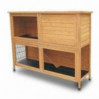 Wholesale Rabbit Hutch, Suitable for Rabbits or Guinea Pigs, Dimensions 190.6 x 56.3 x 127.8cm from china suppliers