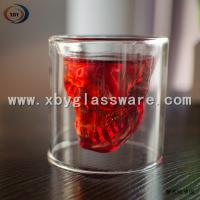 Wholesale Glass skull double wall wine cups from china suppliers