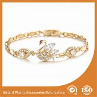 Wholesale Unique Swan Shaped Fashion Metal Friendship Bracelets With Crystal Diamond from china suppliers