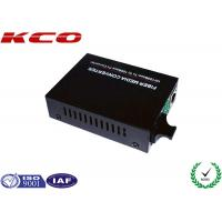 Wholesale 10Mbps / 100Mbps Fast Ethernet Media Converter Fiber Optic Dual External Power from china suppliers