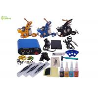 Wholesale Portable Complete Tattoo Kits For Beginners With 3 Machines 3 Grip 4 Colors from china suppliers