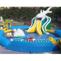 Quality Good Tension Family Round Inflatable Swimming Pool Fireproof For Children for sale