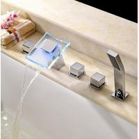 Wholesale Contemporary LED Waterfall Glass Spout Bathtub Faucet, FY-1211-02 from china suppliers