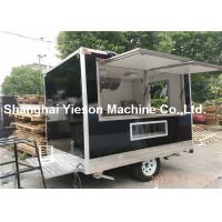 Wholesale Black Car Paint Street Fryer Food Mobile Coffee Cart CE Approved from china suppliers