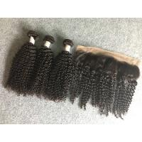 Wholesale 13x4 Ear To Ear 8A Peruvian Virgin Kinky Curly Lace Frontal With Natural Black from china suppliers