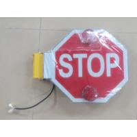 Buy cheap School bus stop sign board Waterproof up to IP56 Built-in Buzzer from wholesalers