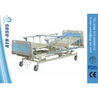 Wholesale Three Cranks Aluminun Side Rails Adjustable Hospital Bed 5 Function from china suppliers