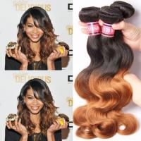 Wholesale Ombre Human Hair Extensions Brazilian Virgin Hair Body Wave 1b / 30 from china suppliers