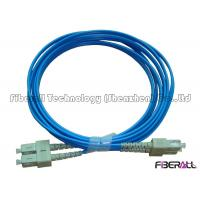 Wholesale 3.0mm Blue Jacket Fiber Optic Jumper Multimode Duplex Fiber Optic Cable Waterproof from china suppliers