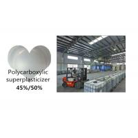 Wholesale 45% 50% Polycarboxylate Ether Superplasticizer , Chemical Admixtures For Concrete from china suppliers