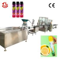 Wholesale Automatic Bacteria Remover Spray Filling Machine / Insecticide Aerosol Filling Equipment from china suppliers