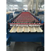 Coated Sheet Steel Cold Roll Forming Machine With Touch Screen PLC Frequency Control