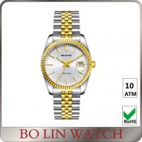 Wholesale 5 ATM Water Resistant Real Gold Diamond Watches , Vintage Ladies 18 Karat Rose Gold Watch from china suppliers