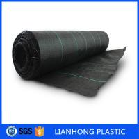 Buy cheap Black color  Anti UV PP Woven Ground Cover Fabric With green Marking Line For Agriculture from wholesalers