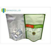 Wholesale Food grade Moisture Barrier Plain Stand Up Pouches Back Foil Spices Packing from china suppliers