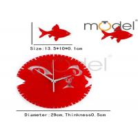 Wholesale Red Round Decorative Wall Clock from china suppliers