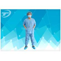 Wholesale SMS Patient Hospital Disposable Scrub Suits Soft Disposable Medical Gowns , CE certified from china suppliers