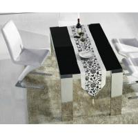 Wholesale modern dining set, marble table, tempered glass table, dining chairs, #6001 from china suppliers