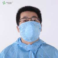 China Industrial sterile chemical Washable Fine Dust Cleanroom Three-Dimensional gauze Face Mask electric blue and white face masks on sale