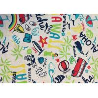 Wholesale Contemporary Novelty Print Fabric , Sportswear / Suit Printing On Cotton Fabric from china suppliers